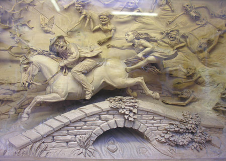 Depiction of the chase from the Burns Museum Alloway